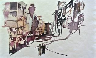 Siria 3 Acuarela sobre papel 31x52cm