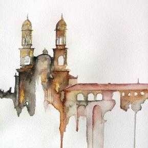Monasterio de Sobrado Acuarela sobre papel 38x56cm